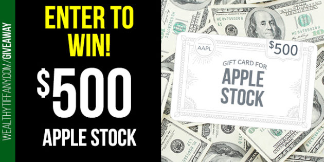 Tiffany Thomas Giveaway - FREE $500 Apple Stock